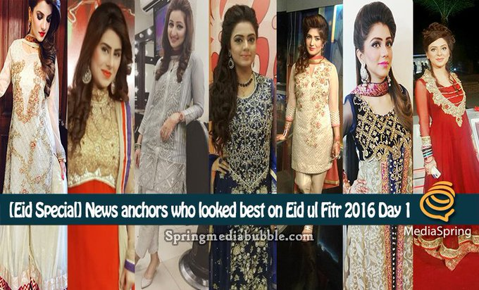 [Eid Special] News anchors who looked best on Eid ul Fitr 2016 Day 1